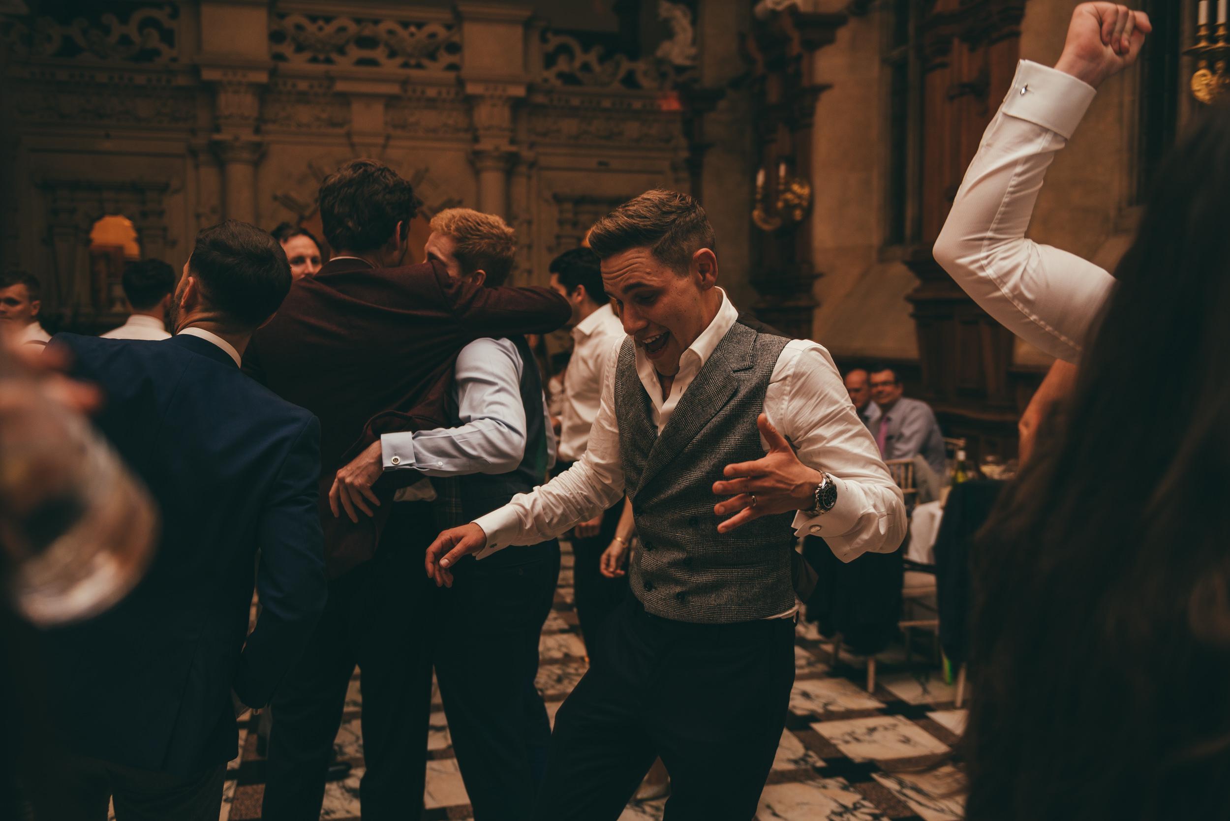 groom dancing at harlaxton manor