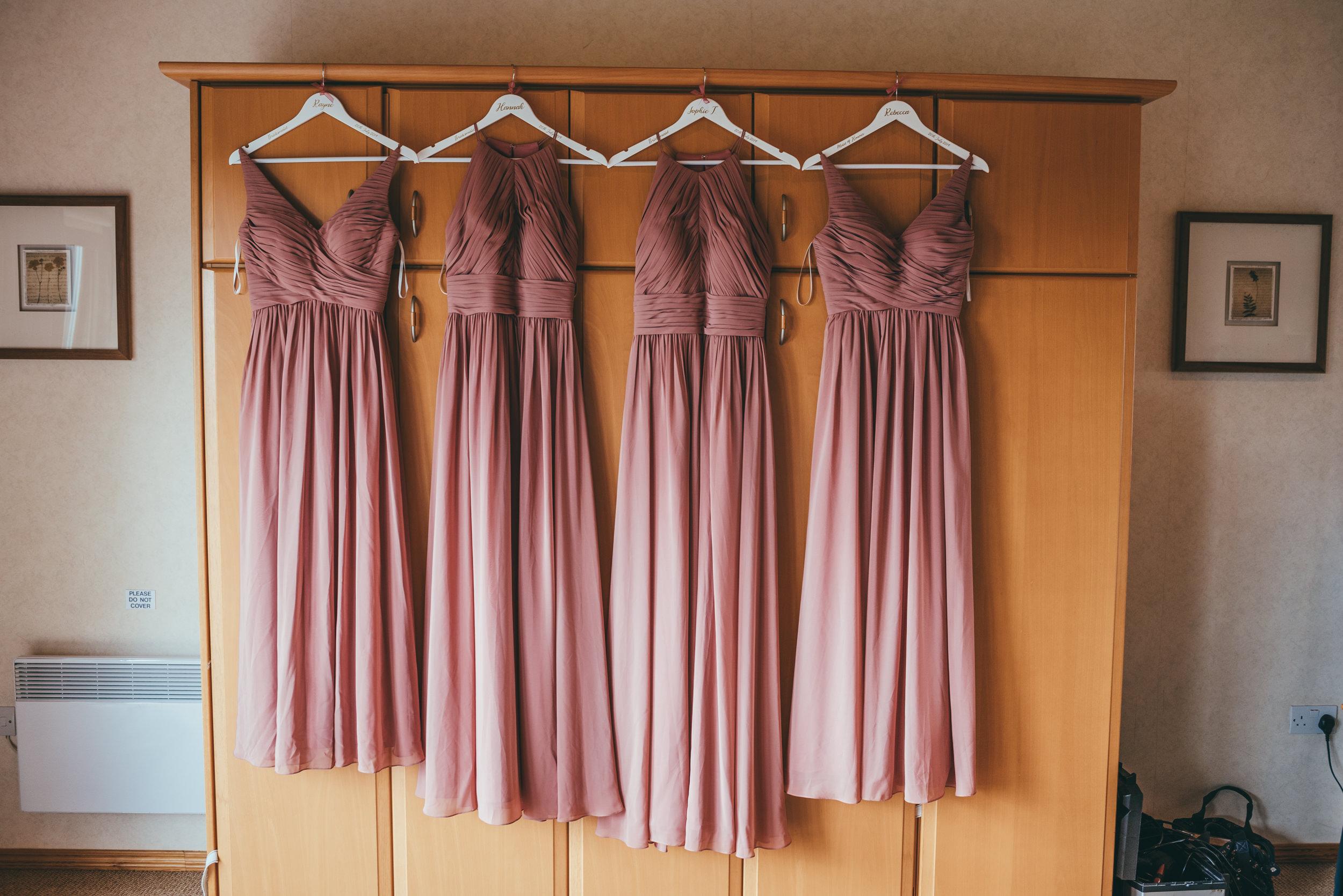 bridesmaids dresses at Belton Woods hotel