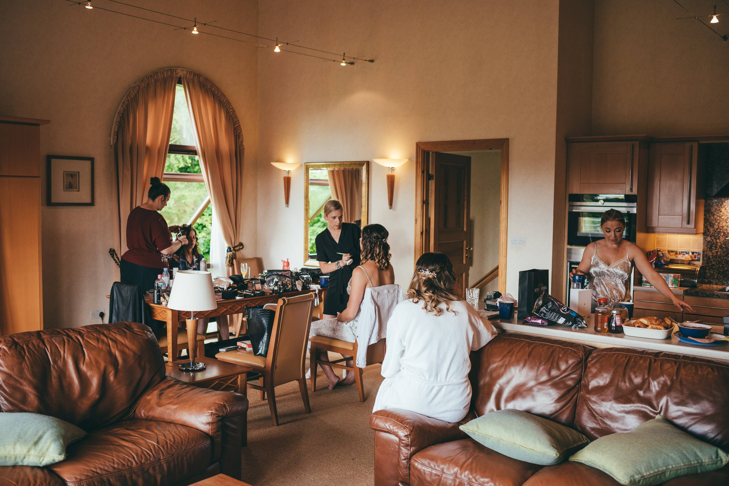 Bridal preparations at Belton Woods hotel
