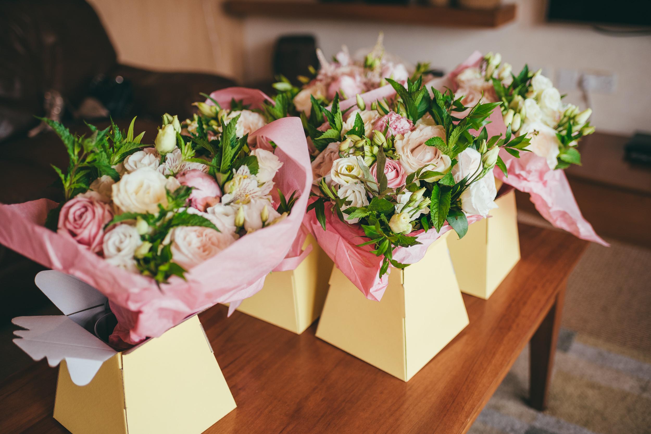 Harlaxton Manor Wedding bouquets