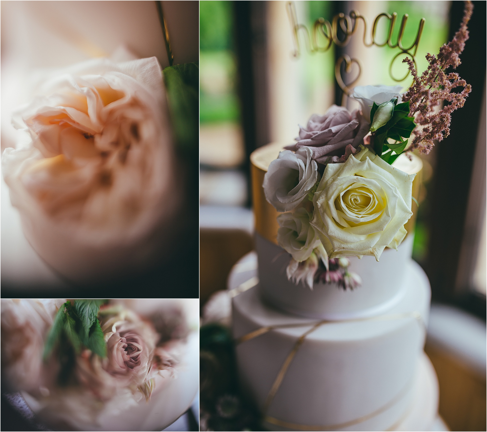 Wedding cake details at Harlaxton Manor