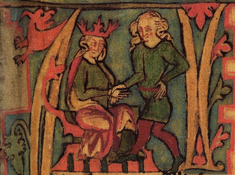From Flateyjarbok: King Haraldr Hárfagri and Halvdan svarte
