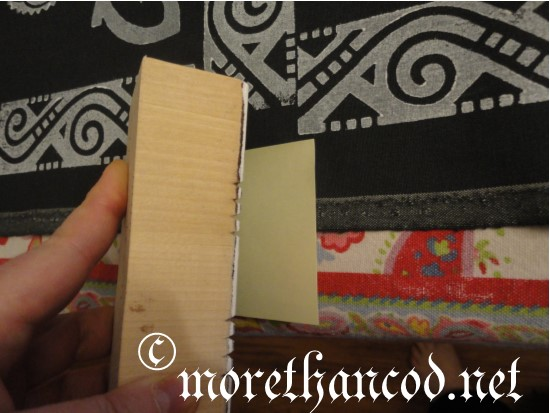 Block printing over sticky-note