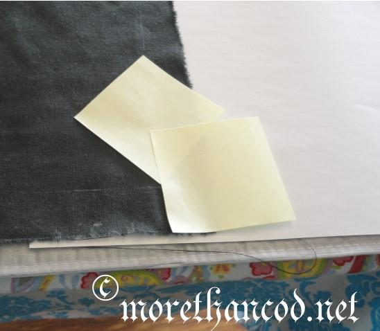 Masking for a mitered corner