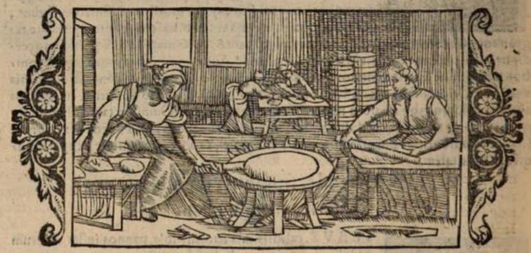 Olaus Magnus (1555)- baking flatbread