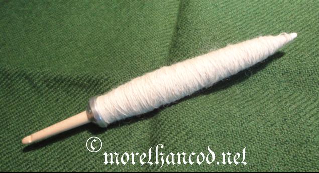 One spindlefull, ca. 12g of fiber