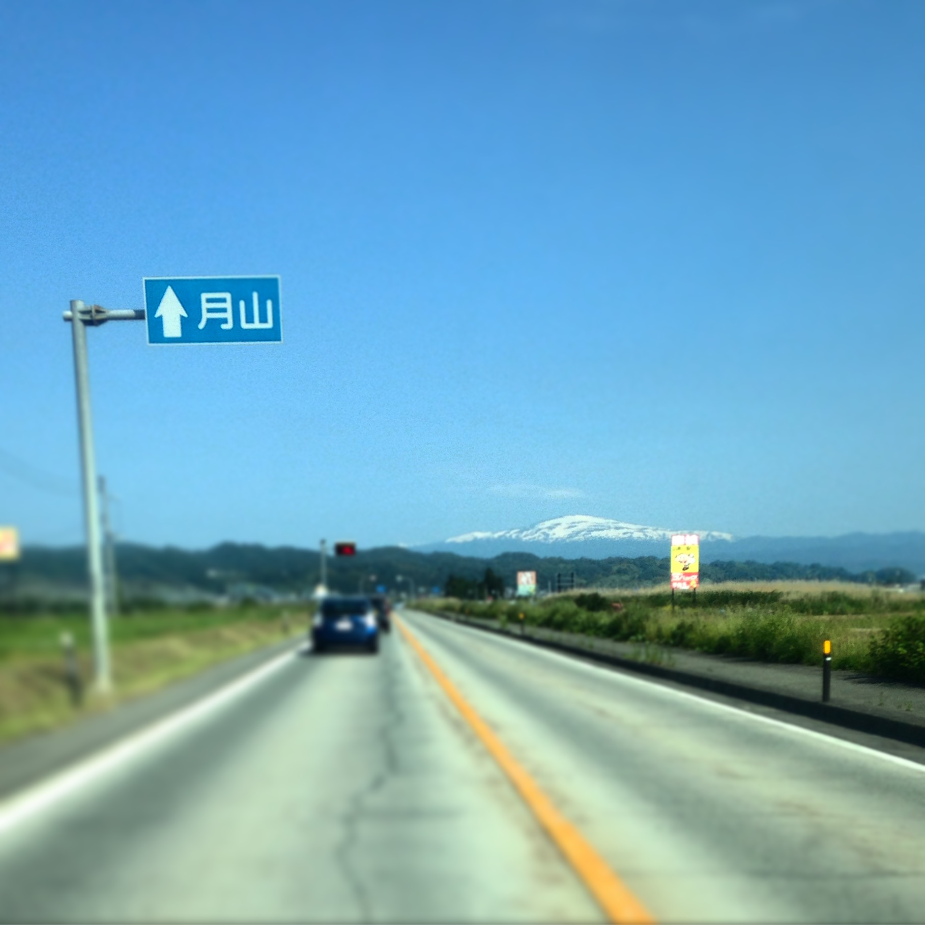 I love this road sign. Yep, I spotted the mountain, thanks.