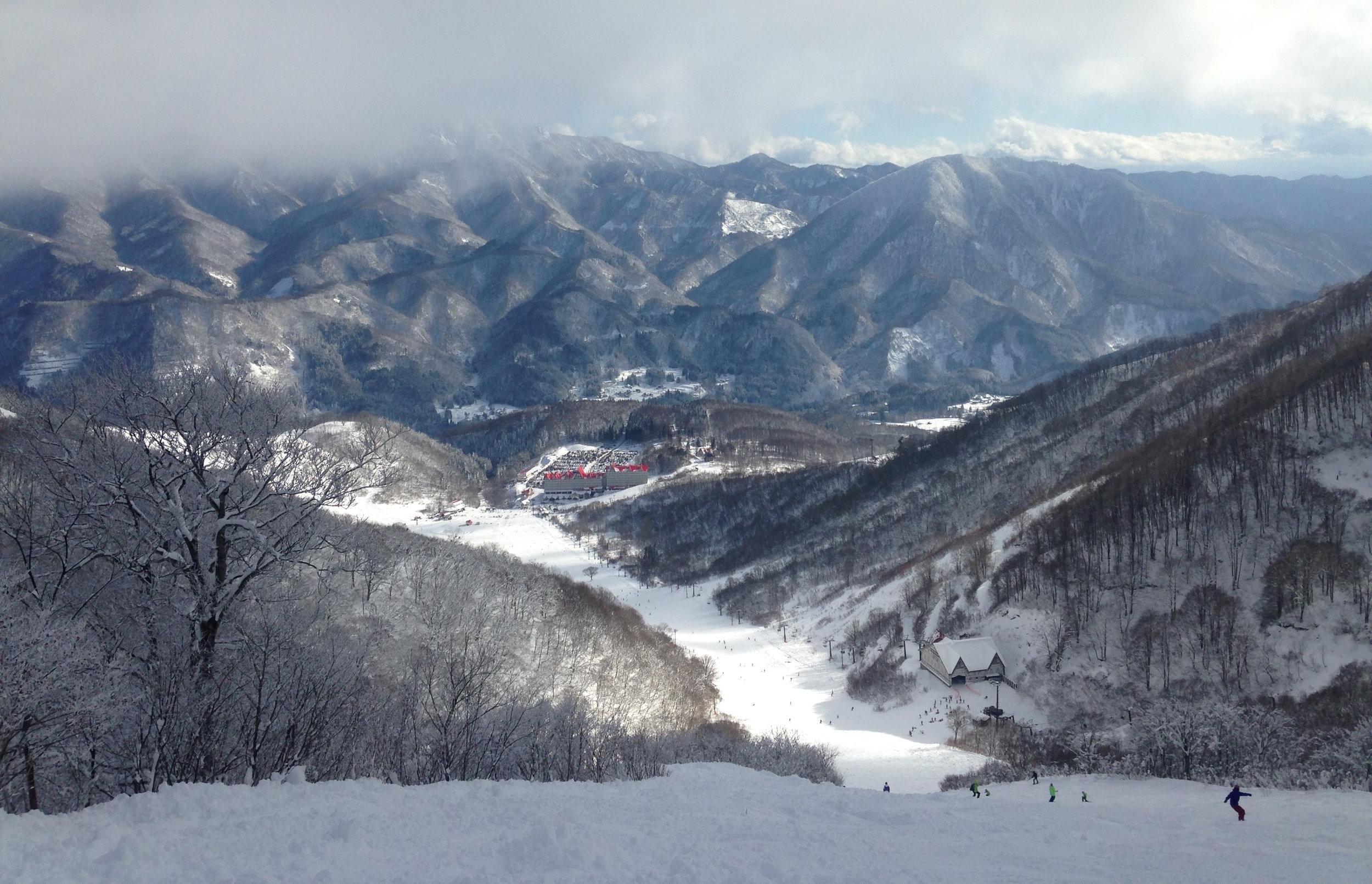 The central run at Cortina, in Hakuba, Nagano.