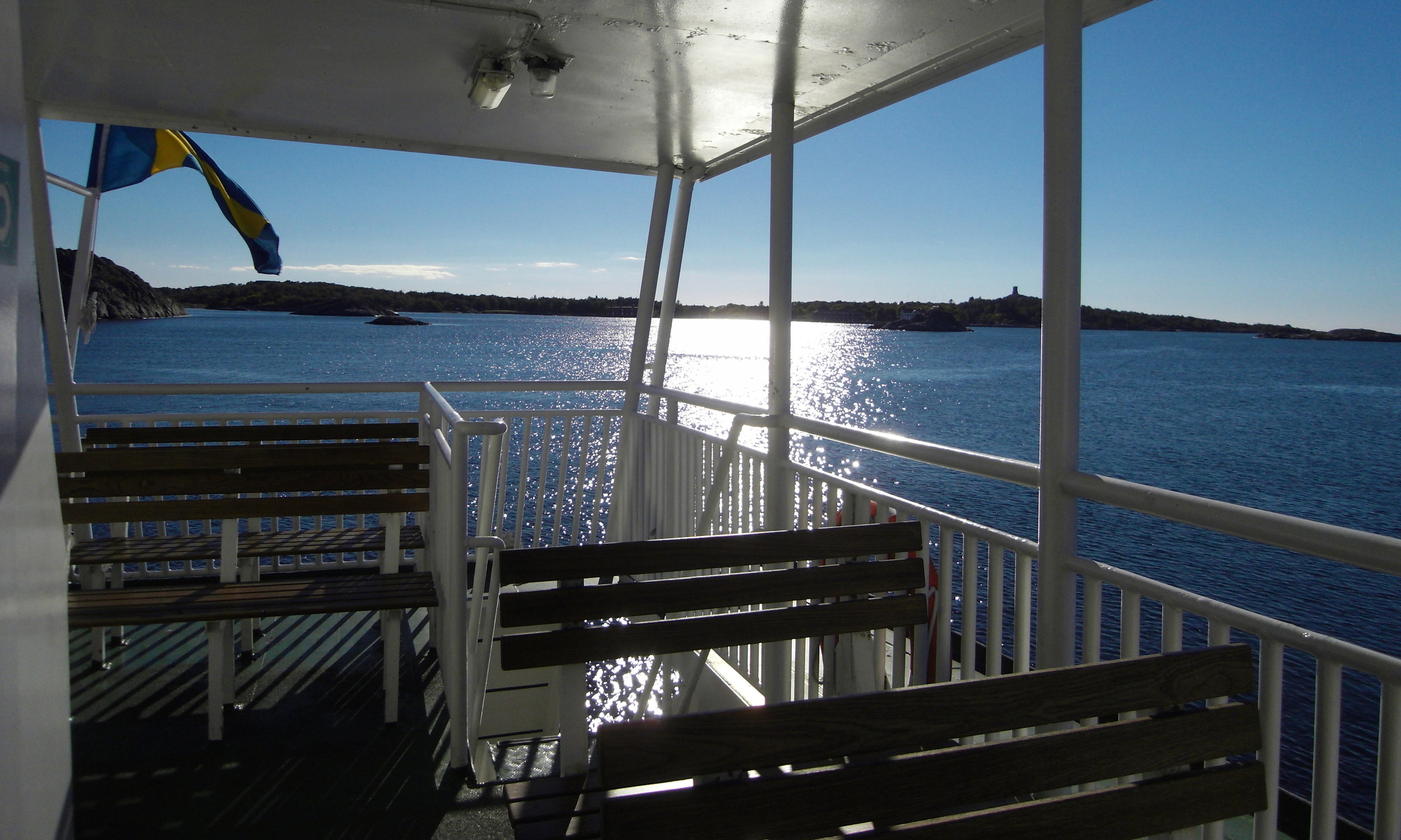 Of course, the tourists are the only ones braving the breeze out on deck, but that was okay with this tourist; on one of many ferries out of Saltholmen.