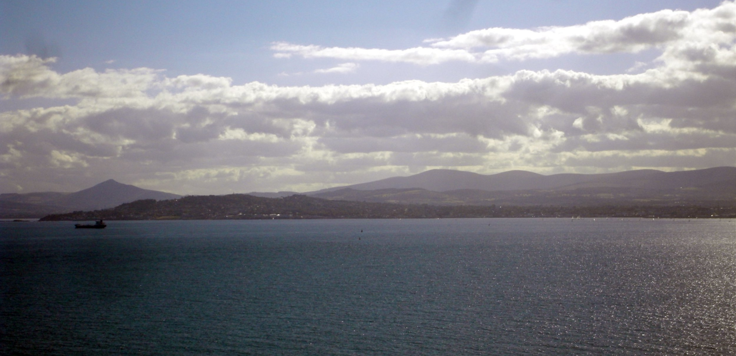 The South Dublin Coastline; Dalkey Island visible on the extreme left.