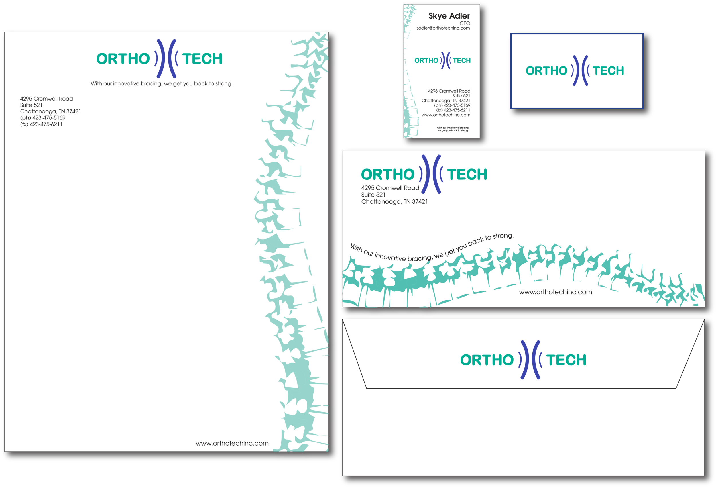 Identity package for OrthoTech