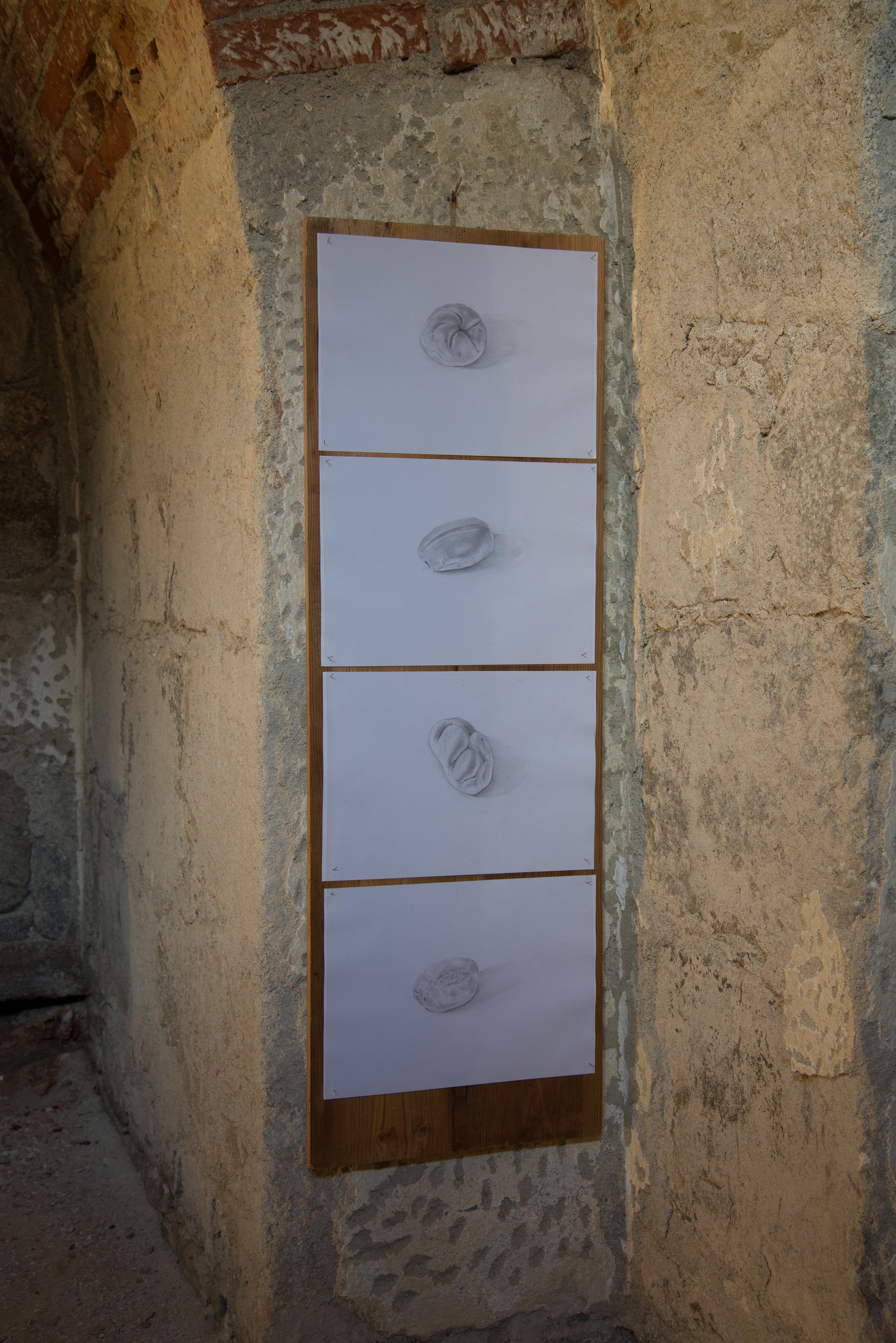 BREAD 2013  4 drawings 42x30cm