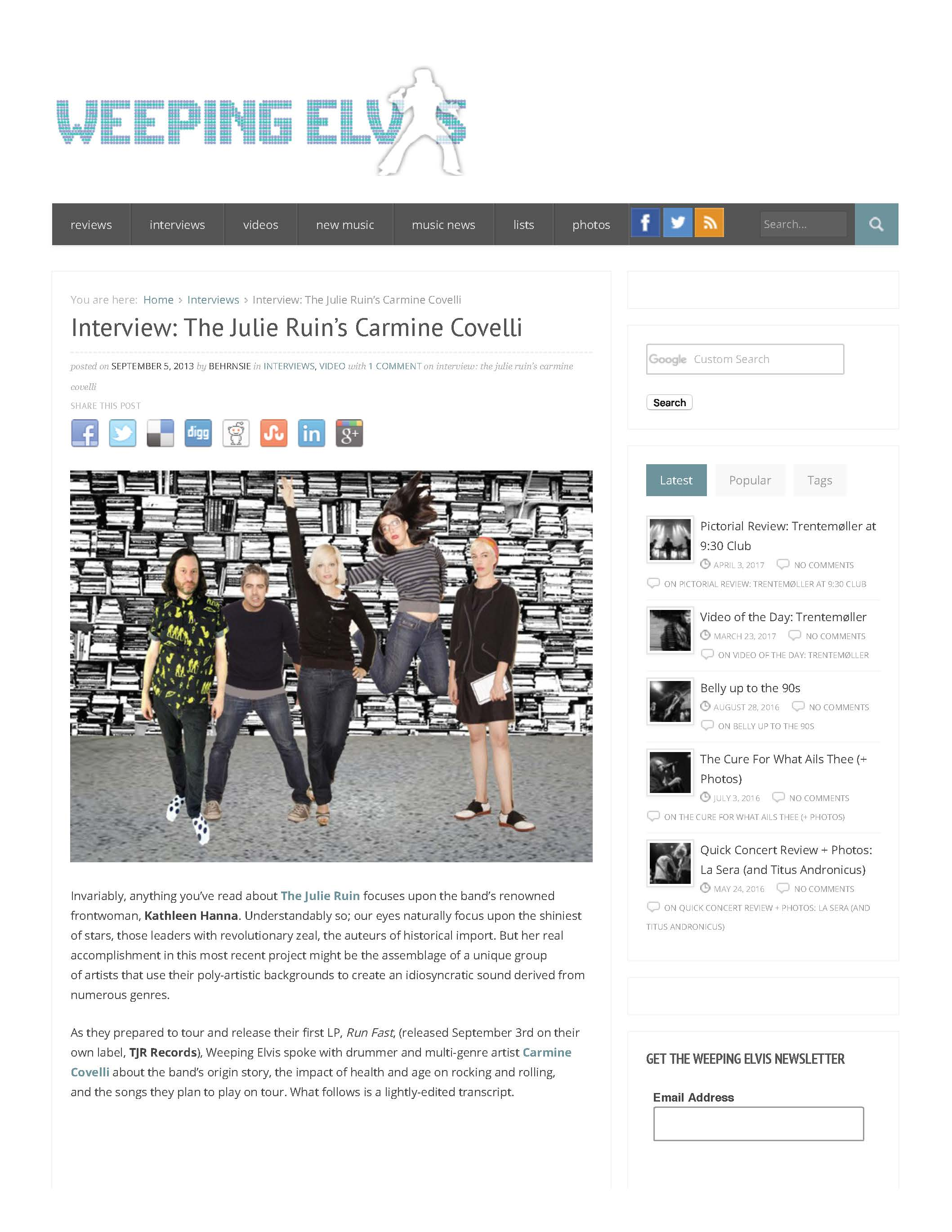 Interview- The Julie Ruin's Carmine Covelli - Weeping Elvis_Page_1.jpg