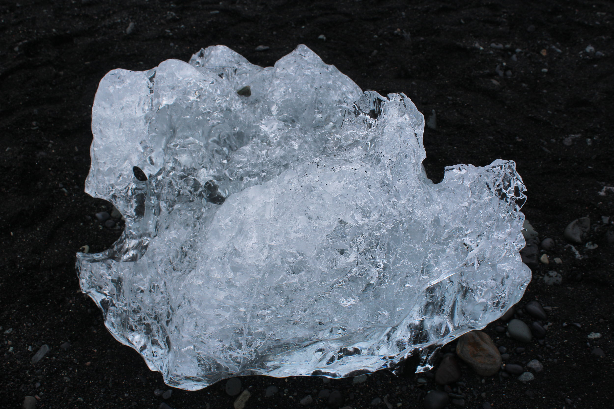 - The nearby Diamond Beach contains chunks of ice that have floated down from the lagoon.