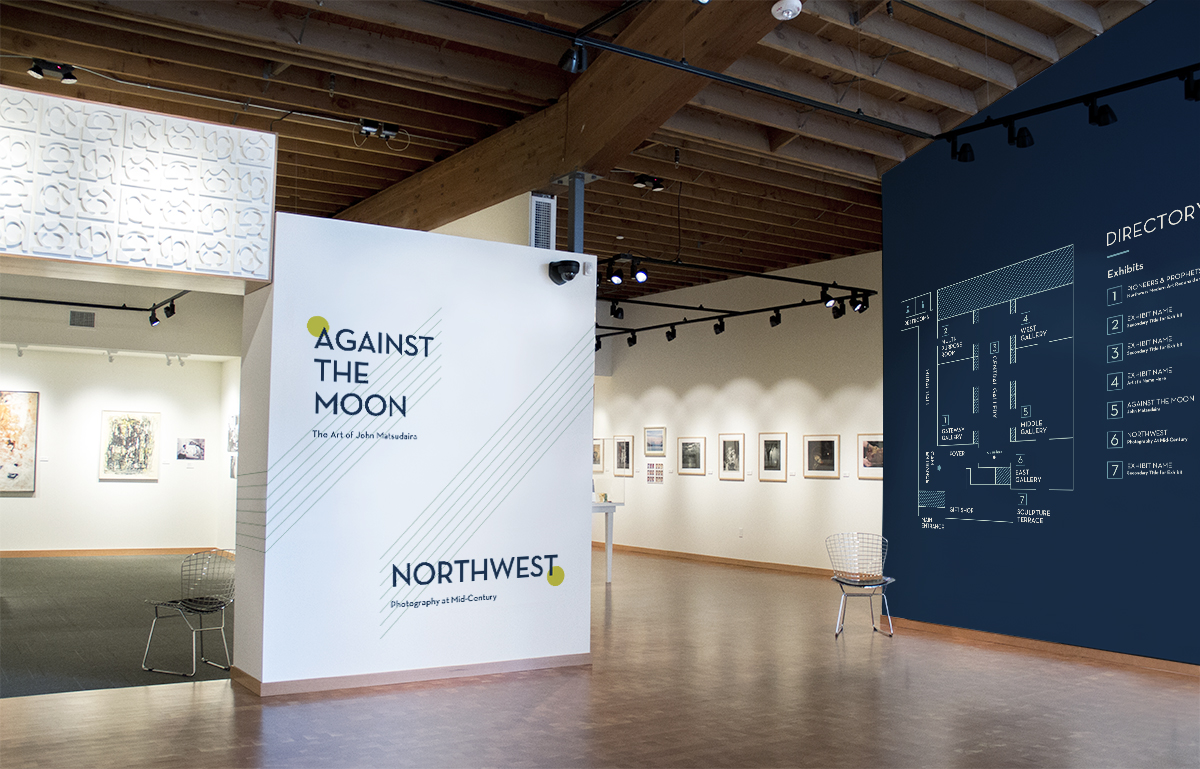 Concept map design and exhibition title wayfinding within gallery space