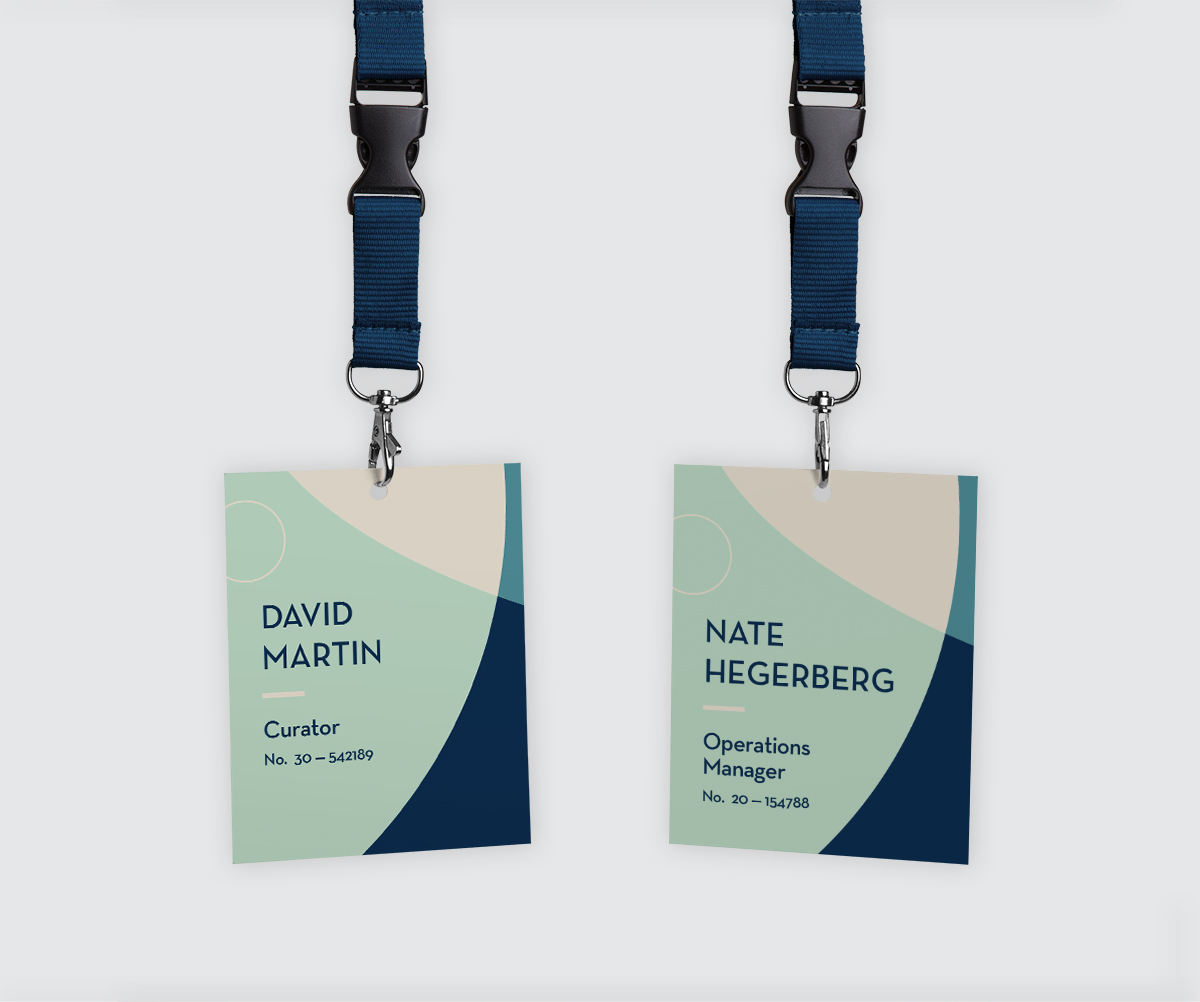 Concept for CAM employee ID lanyards