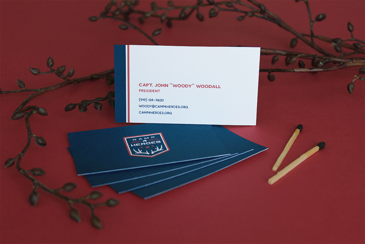 Business card template concept
