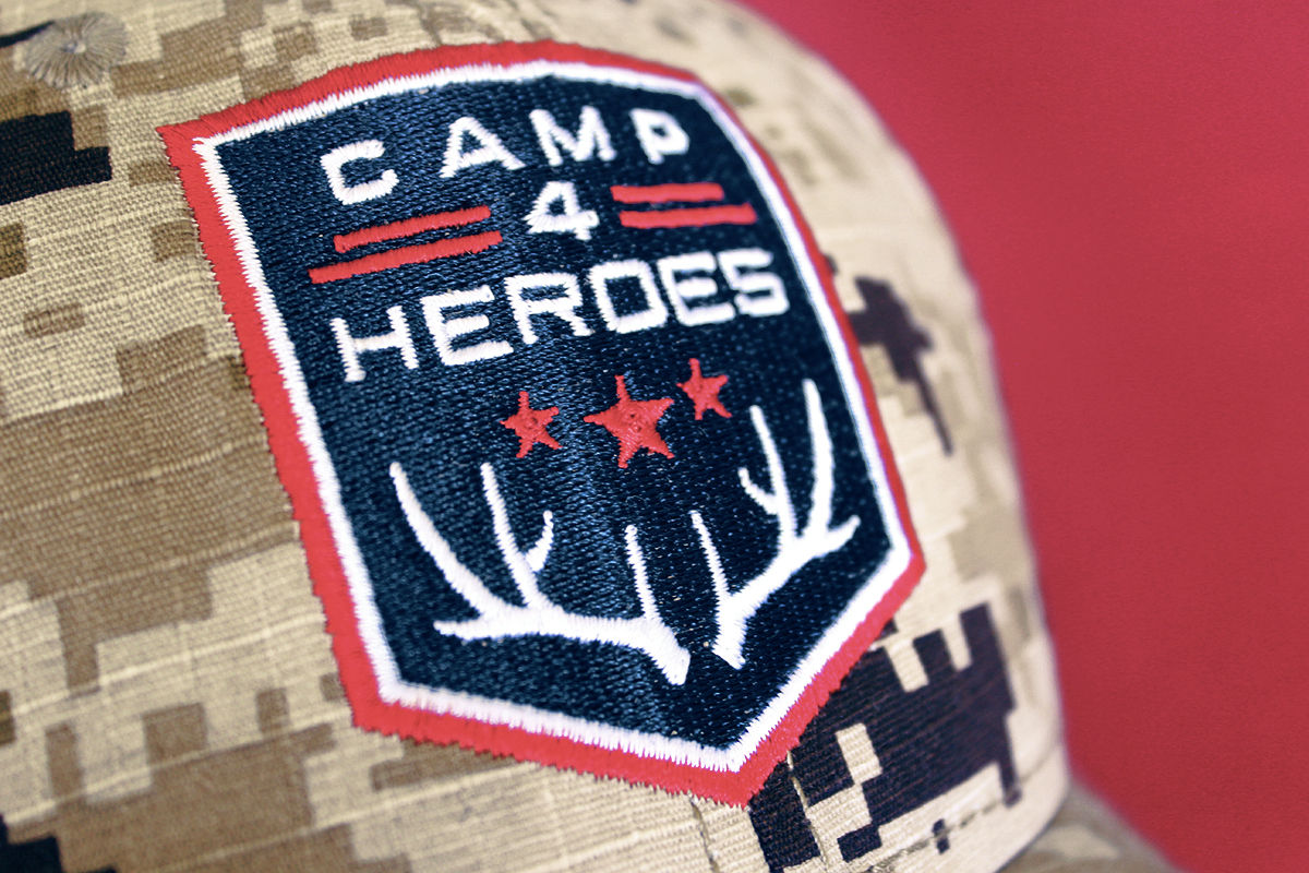 Custom stitched hat featuring my logo design