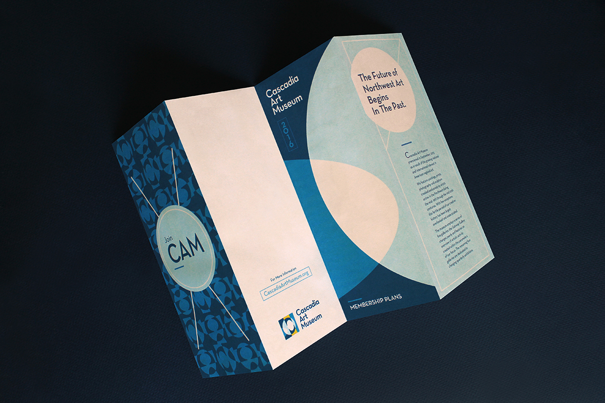 Outer panels of brochure