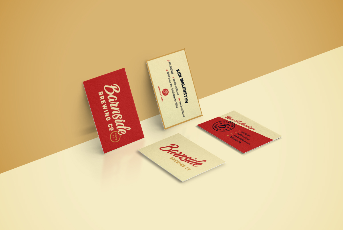 Final two business card design concepts