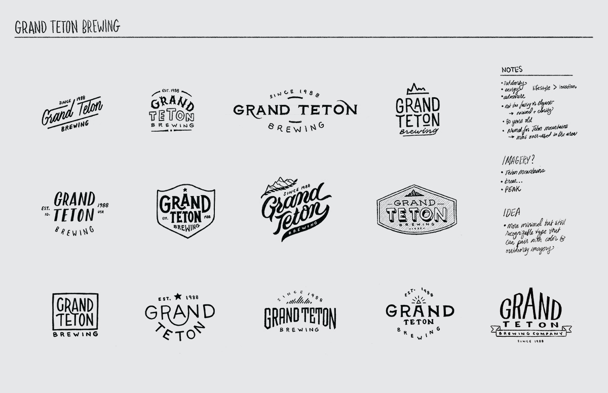 Logo sketch concepts