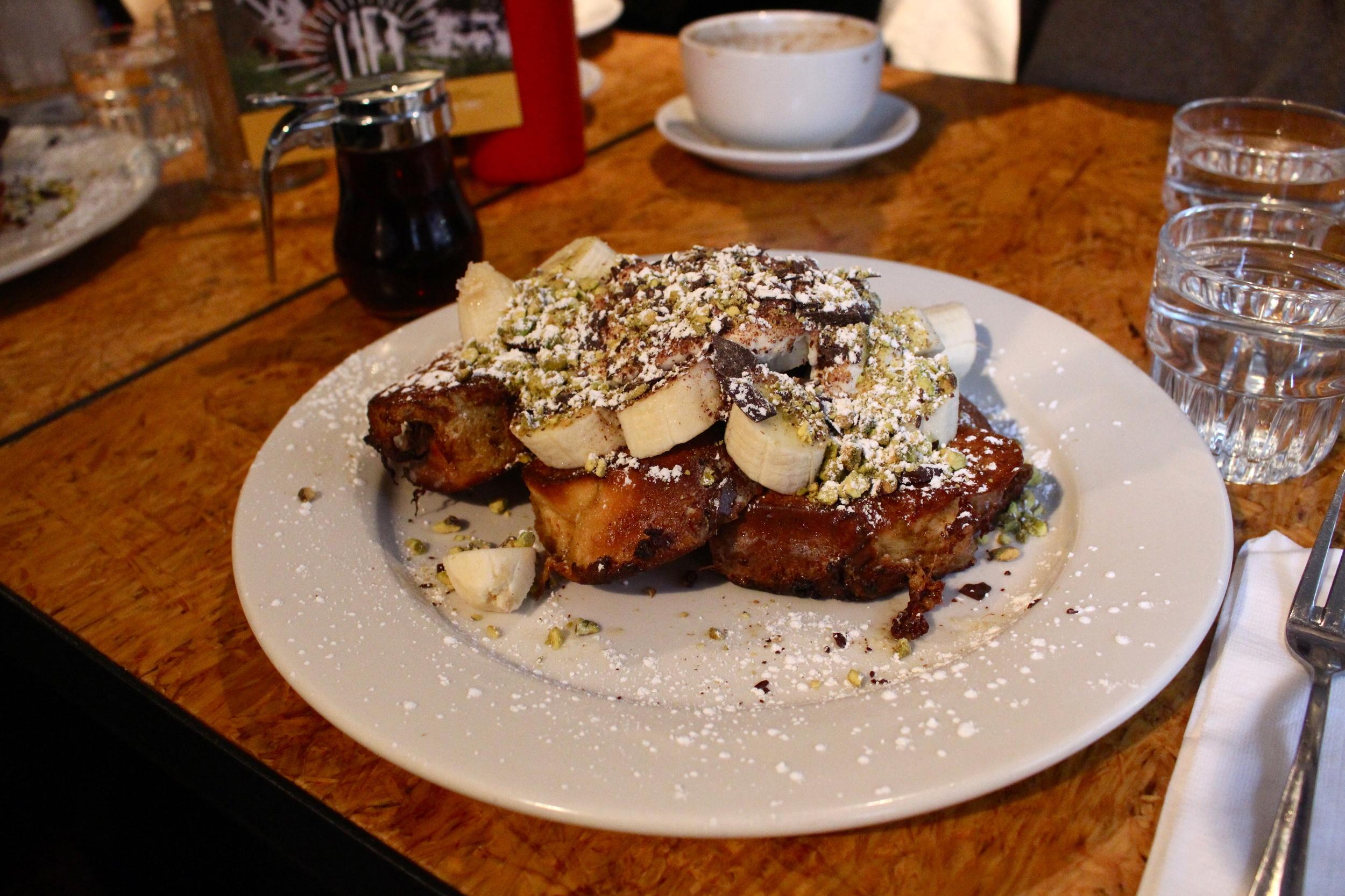 Cannoli French Toast at Cafe Lift