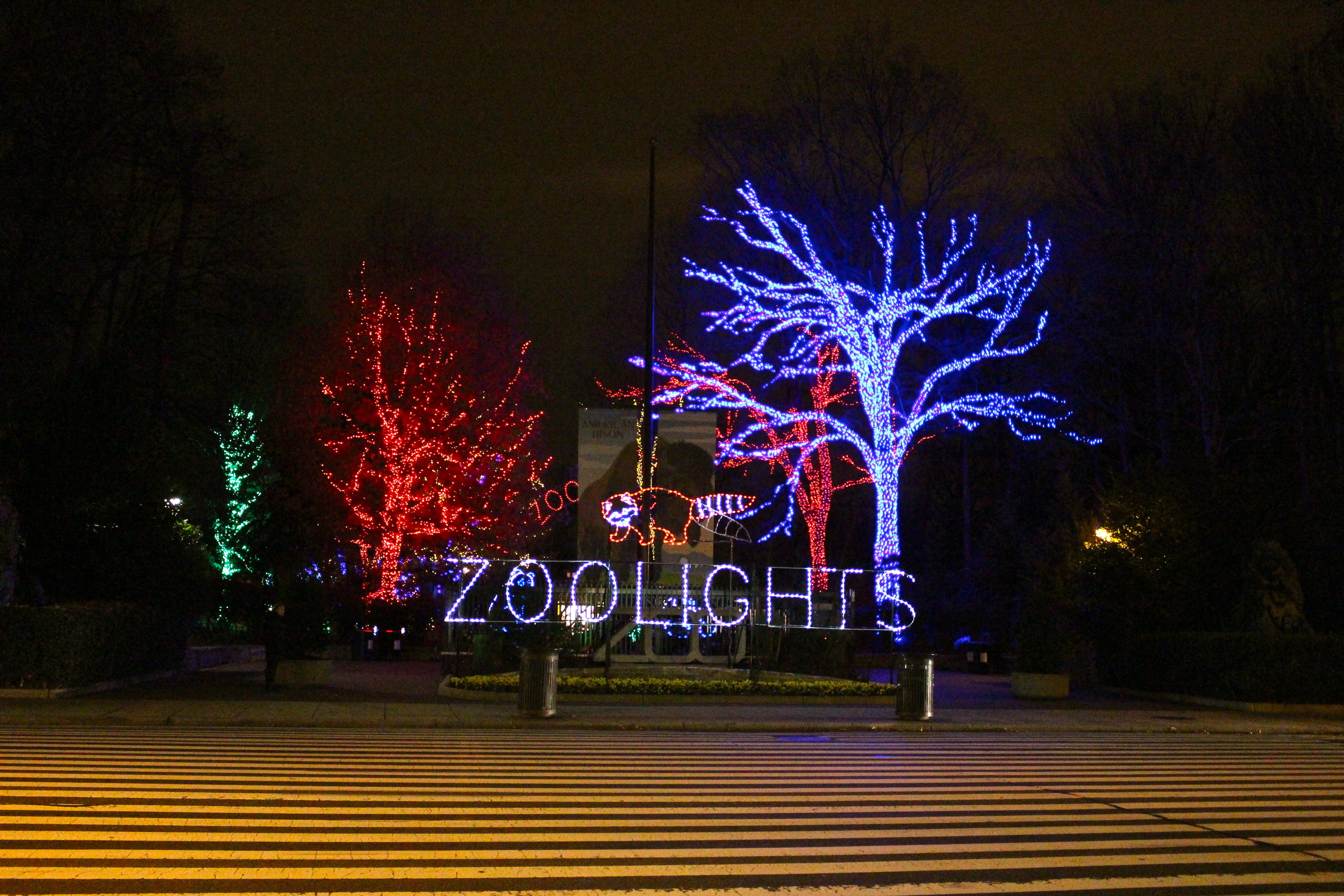 Entrance of Zoo Lights