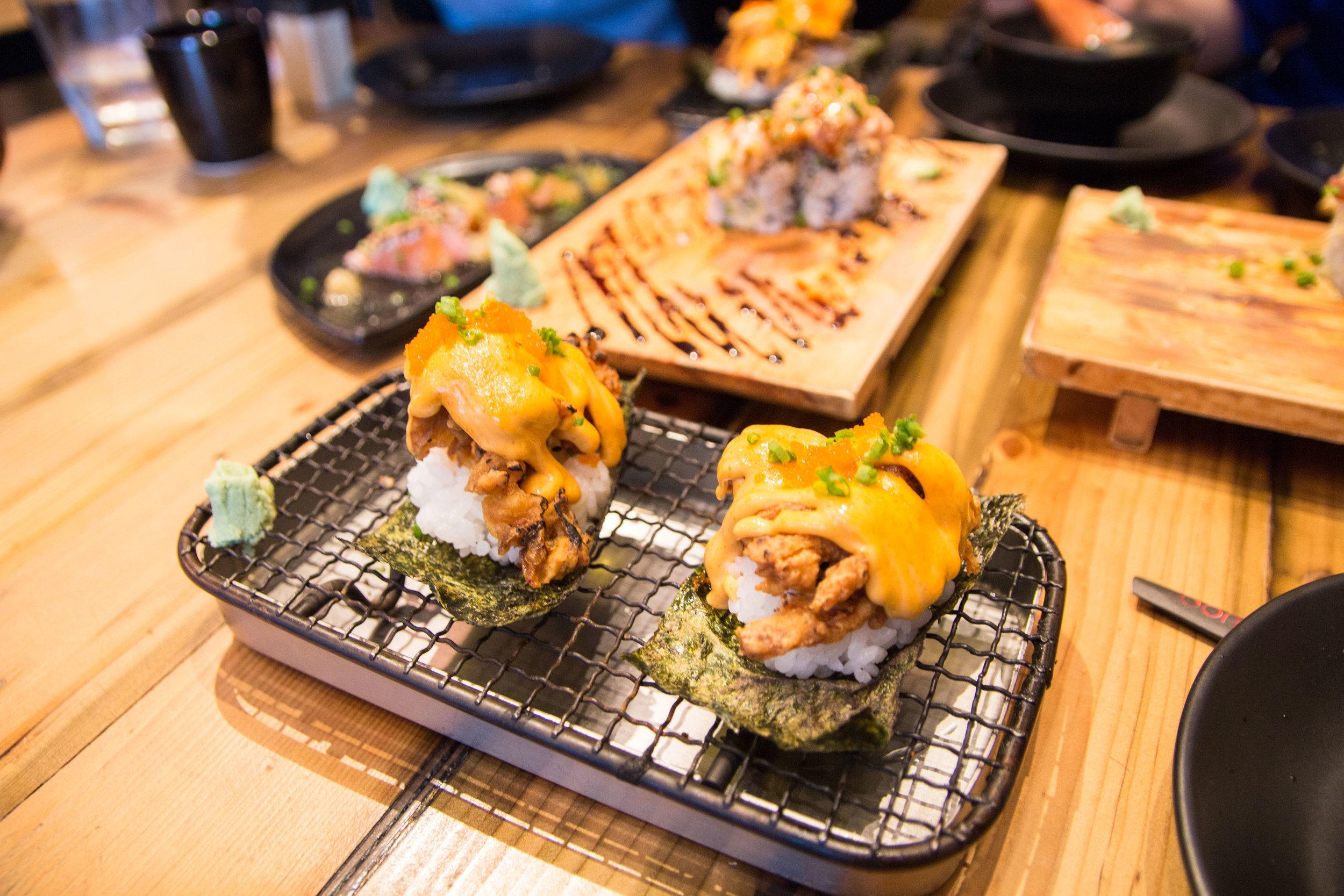 Soft Shell Crab Taco-Maki