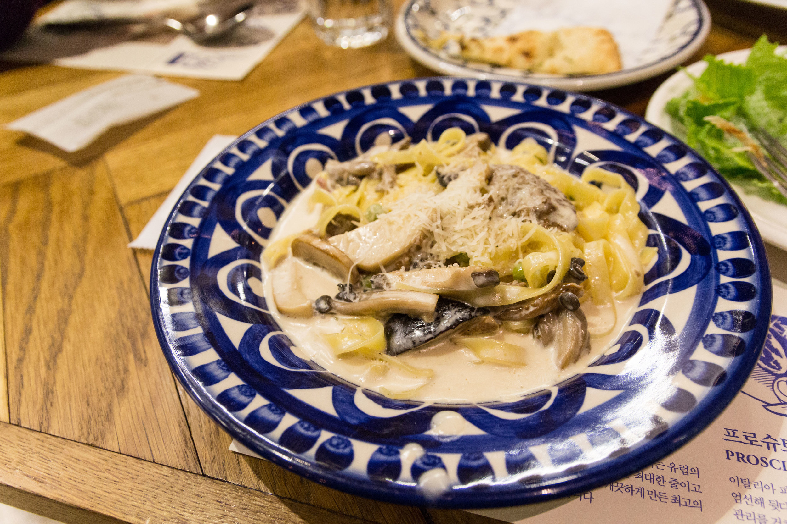Mushroom creamy pasta
