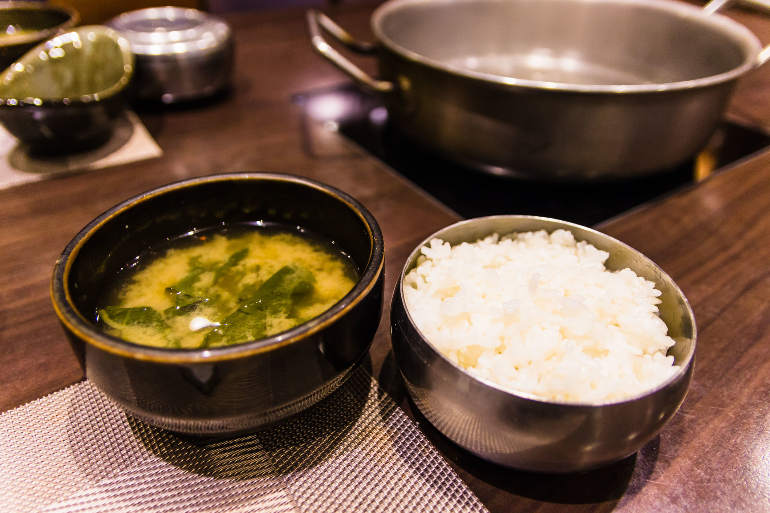 Rice and seaweed soup
