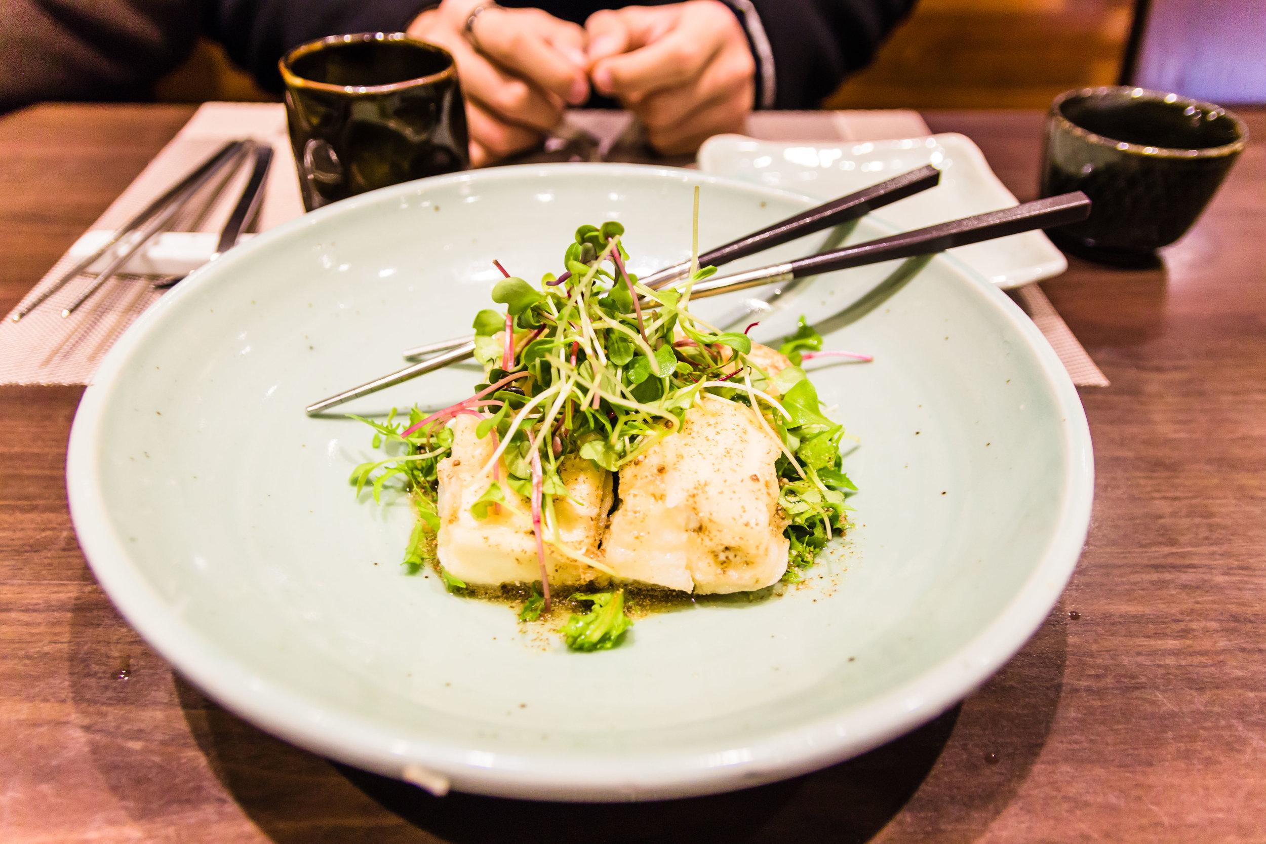 Tofu and greens