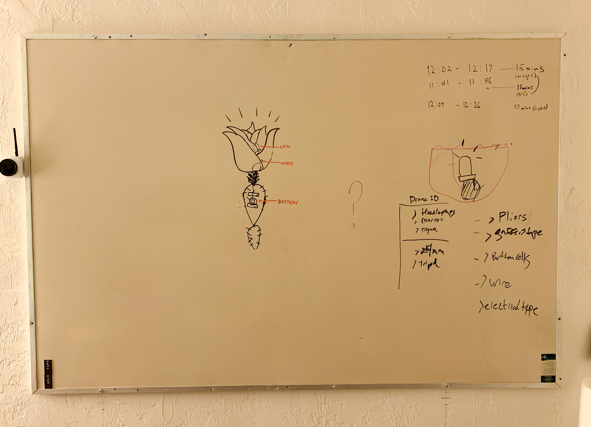 Project blueprints sketched on Alex's whiteboard during our weekly meeting last Thursday.