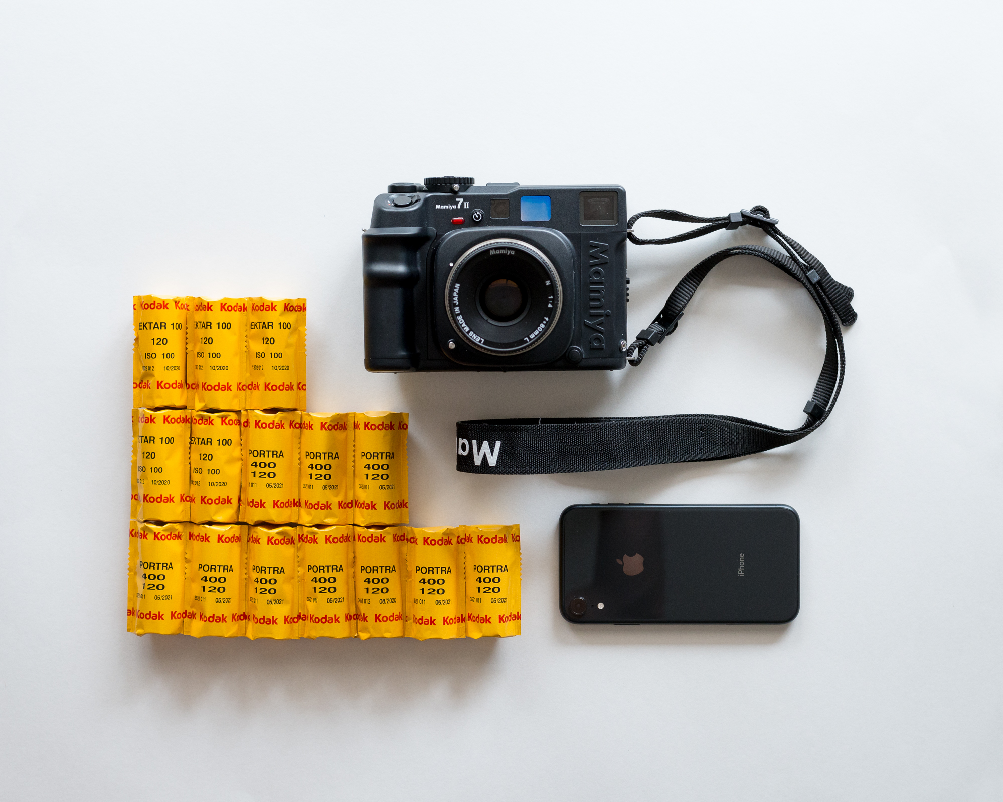 It's never easy deciding which cameras to bring and which to leave behind. How will the rejected cameras take the news? I decided on the Mamiya 7ii and my iPhone, which I believe was the most lightweight and versatile combination for this trip.