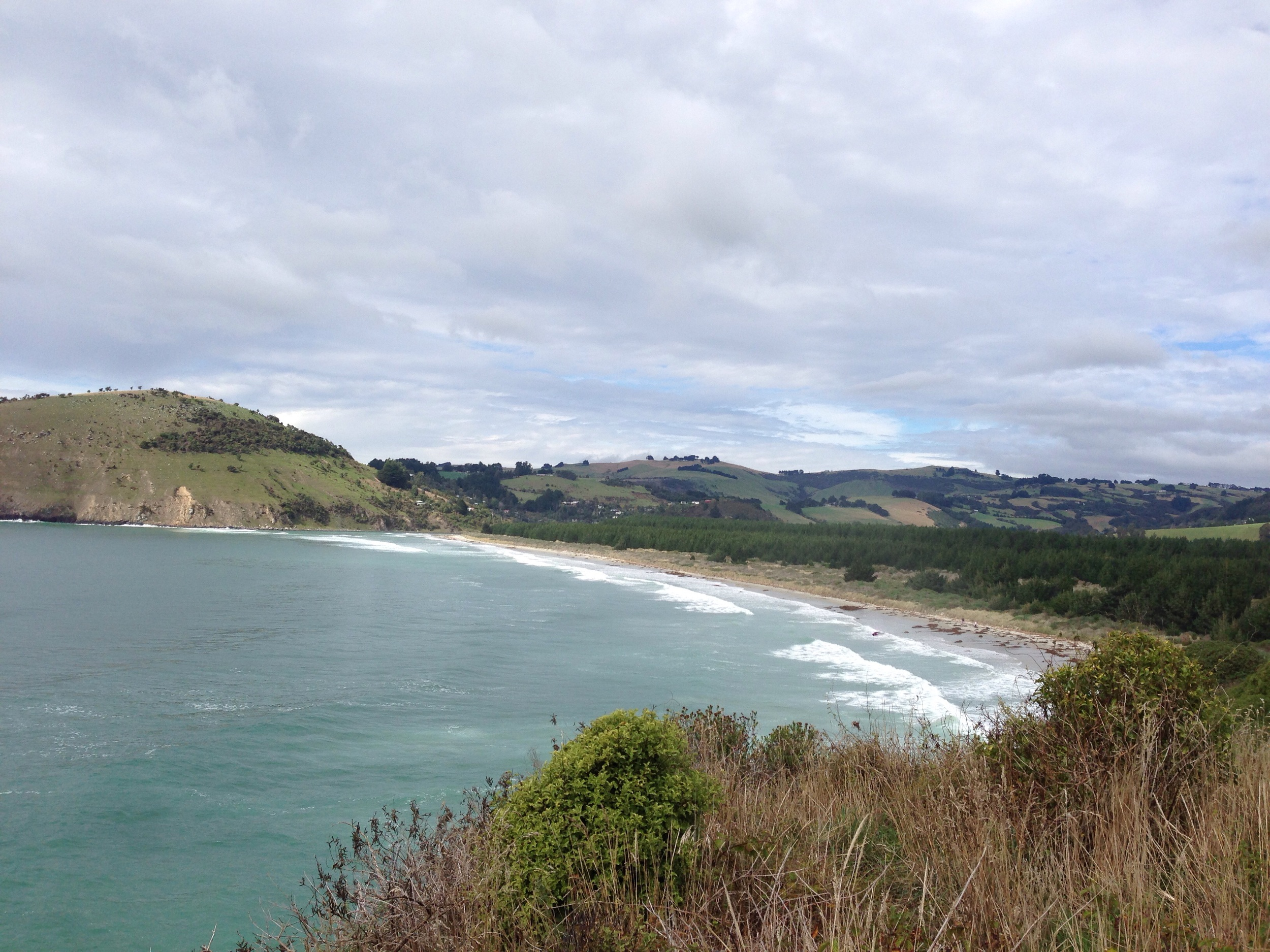 Purakaunui beach and  Purakaunui hamlet .