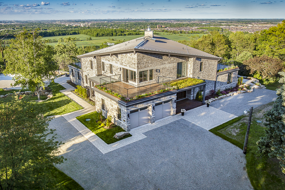 Sample aerial real estate photo taken in Milton, Ontario.