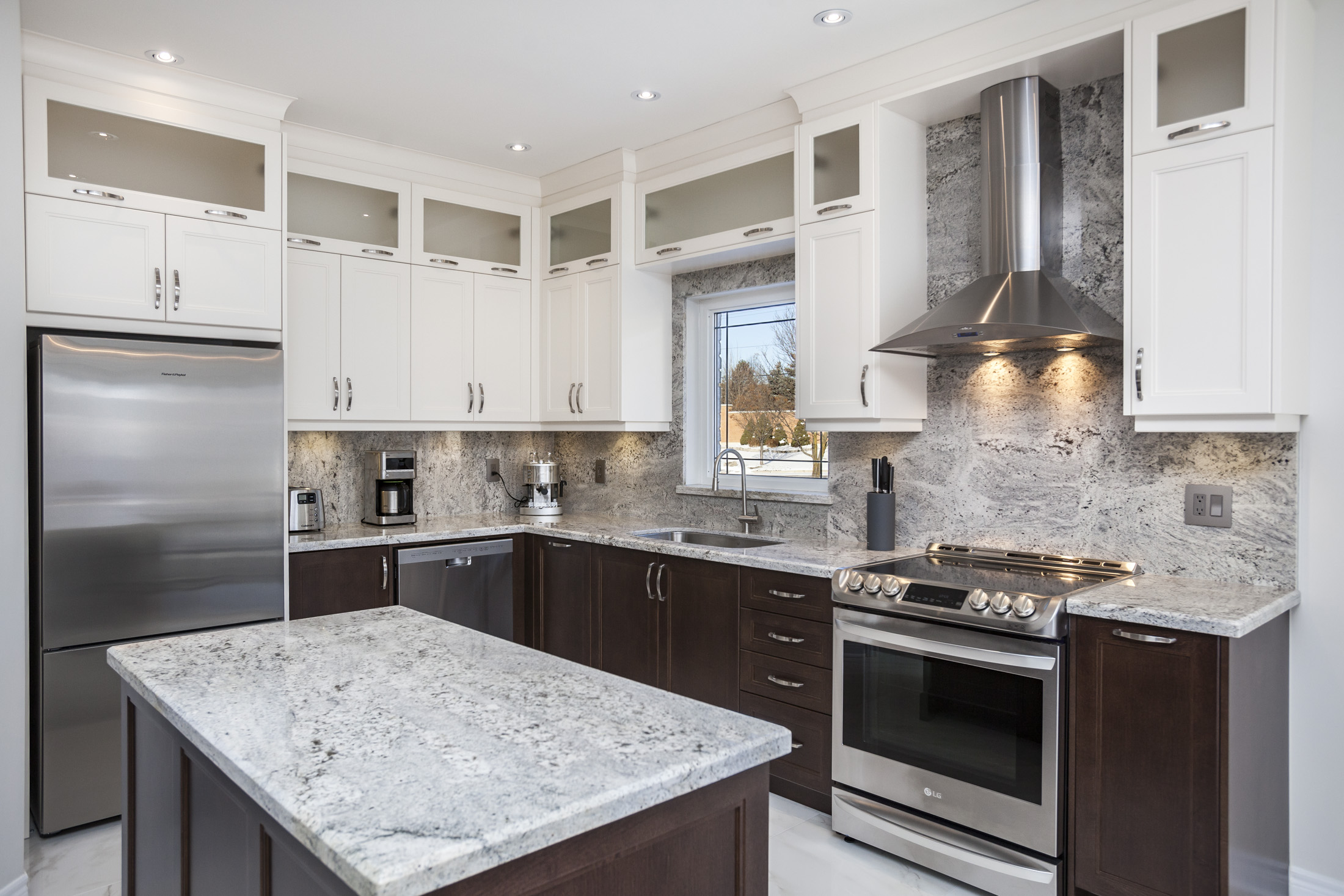 Newly renovated kitchen photographed for a contractor.