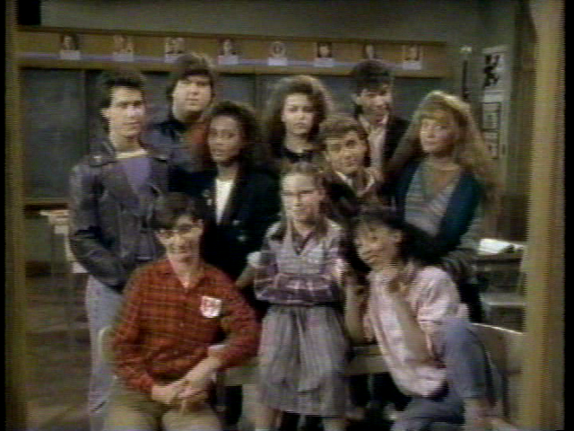 The students included one of Tony Soprano's mistresses (top row centre), the men responsible for the career of Kenan Thompson (top row left), and the victim of Tobias Funke's glitter basket (bottom row centre).