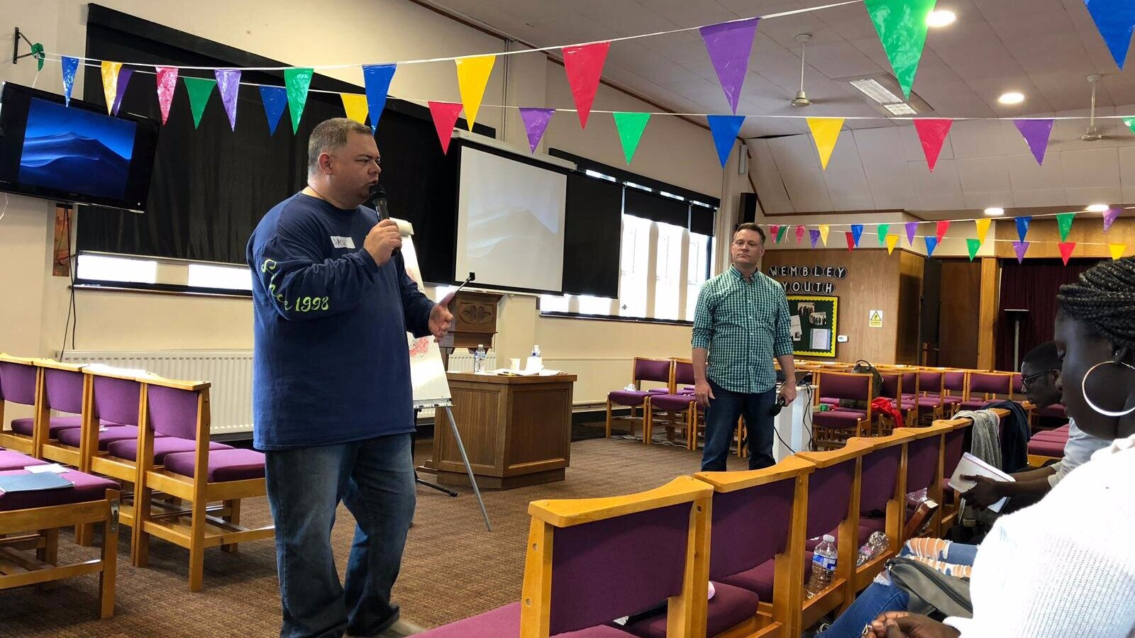 Paul & Jon conducting a Spiritual Challenge Session in the UK.