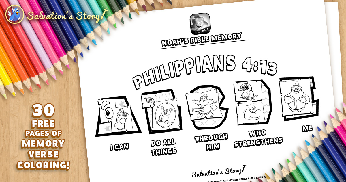 Noah's Bible Memory 28 Printable Verses To Color And Quiz! — Sunday  School Games Bible ABC Bible Coloring Memory Verses