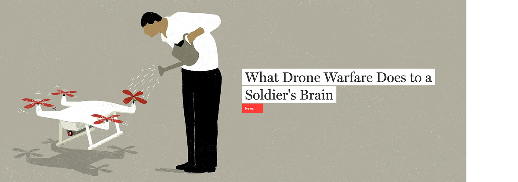 GQ- What drone warfare does to a soldier's brain