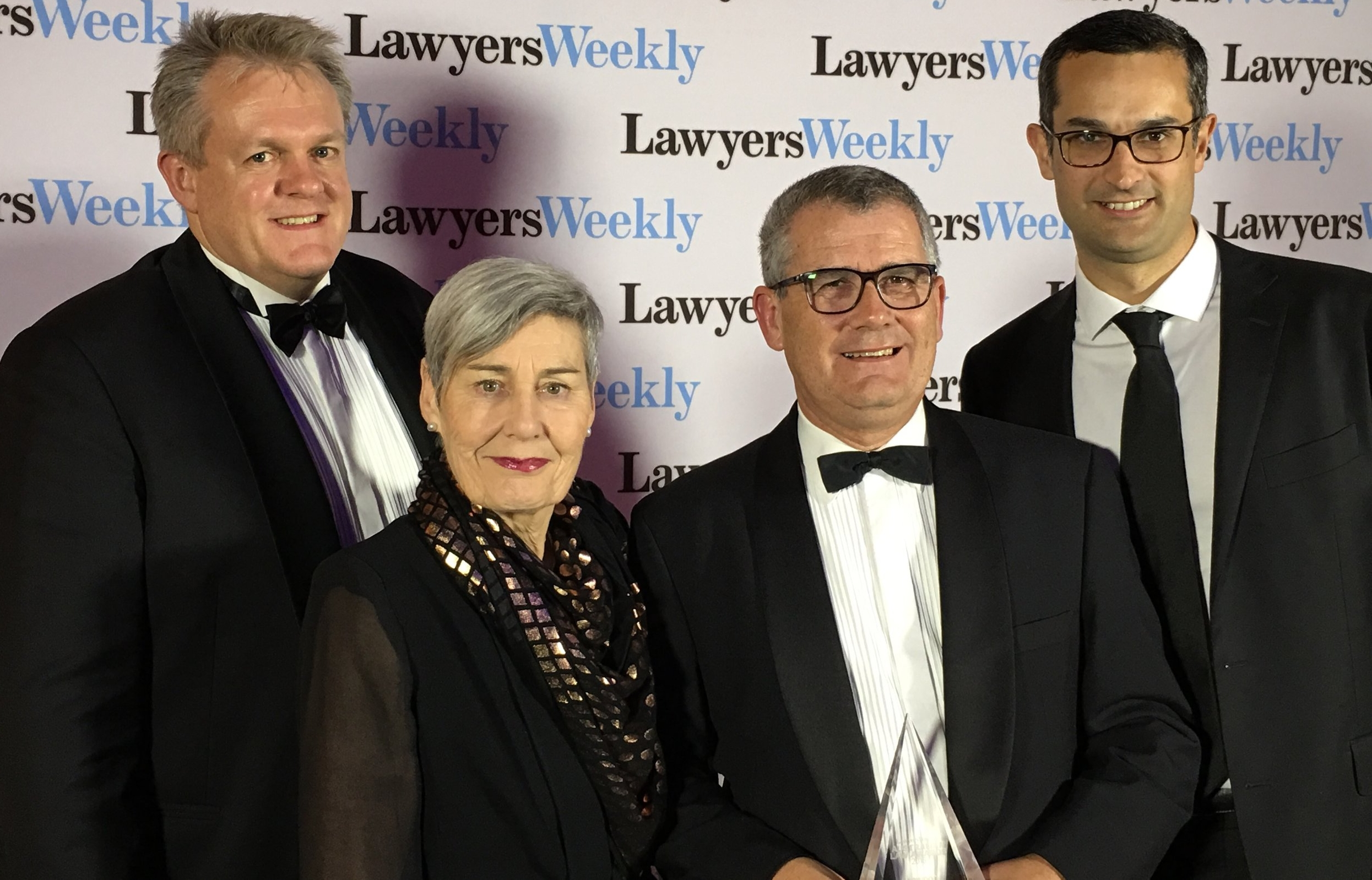 Left to right: Andrew Barnes,  Financial Controller; Janet Dore,  Chair; Dan Simmonds,  Managing Principal  and Andrew Price, C  onsultant