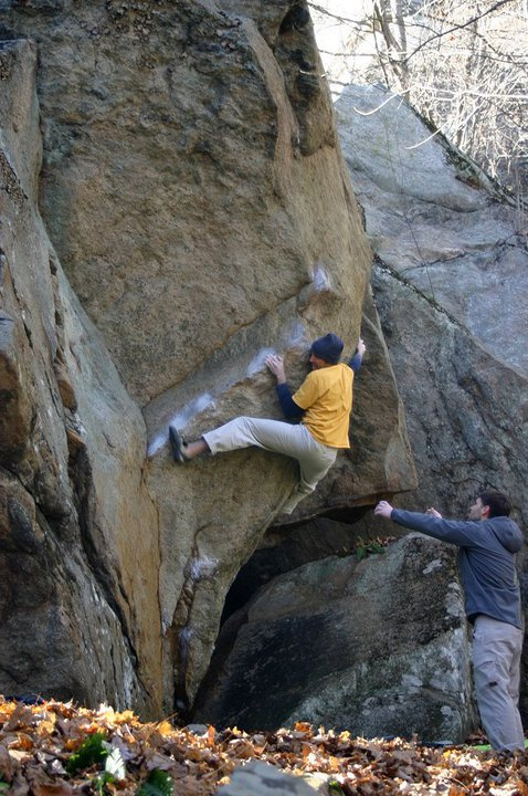 Appetite for Destruction, V8, at Farley Ledge, MA.  Photograph by Brian Cowles.