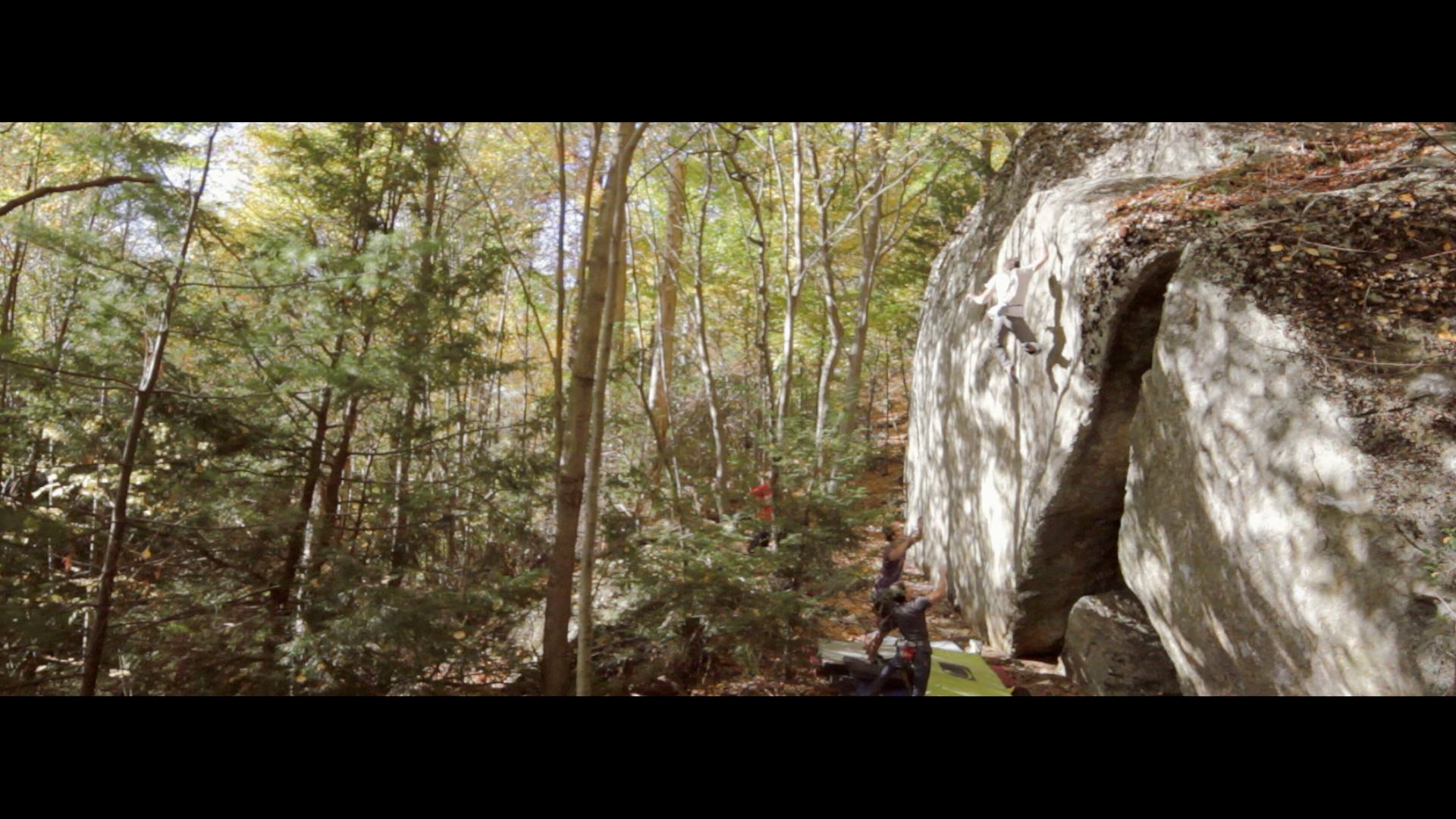 Screenshot of a big fall from Oceans of Air, V8, at Great Barrington.