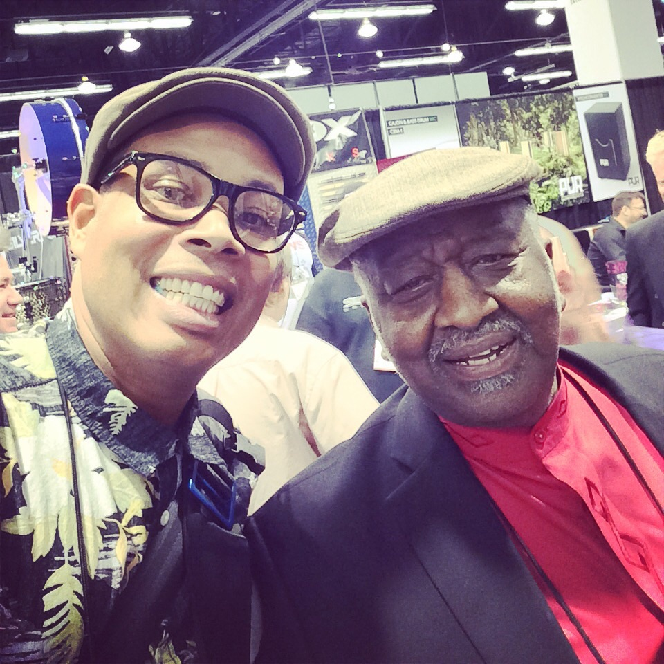 "If you dont know who this is, you probably aren't a drummer. ""The hit maker"" Bernard Purdie!"
