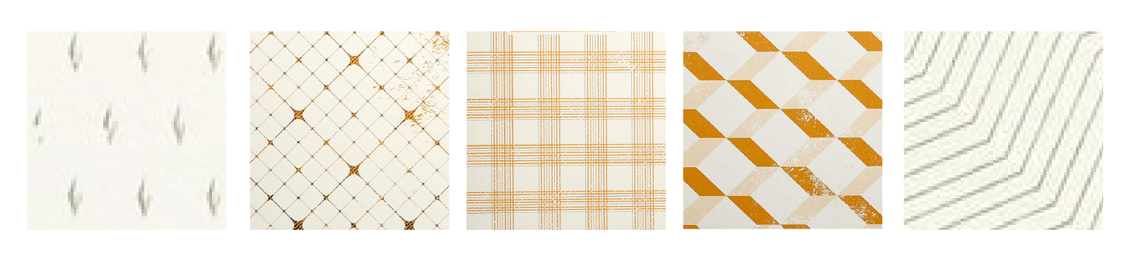 [Buy any 3 for $22.50] LR00038-47 Rhodia - Heritage Book Block Notebook / A5 Raw Binding Notebook / 80 ivory sheets / lined or grid ($15)  left to right // Moucheture, Quadrille, Tartan, Escher, Chevrons