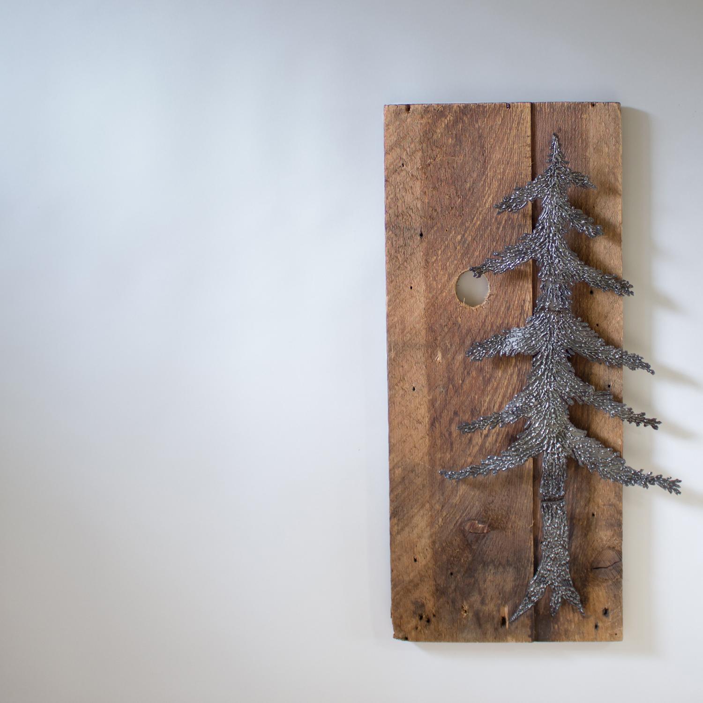 fir tree with moon    32″ x 17″