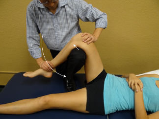Knee flexion Angular Joint Mobilization - Anterior and inferior shift