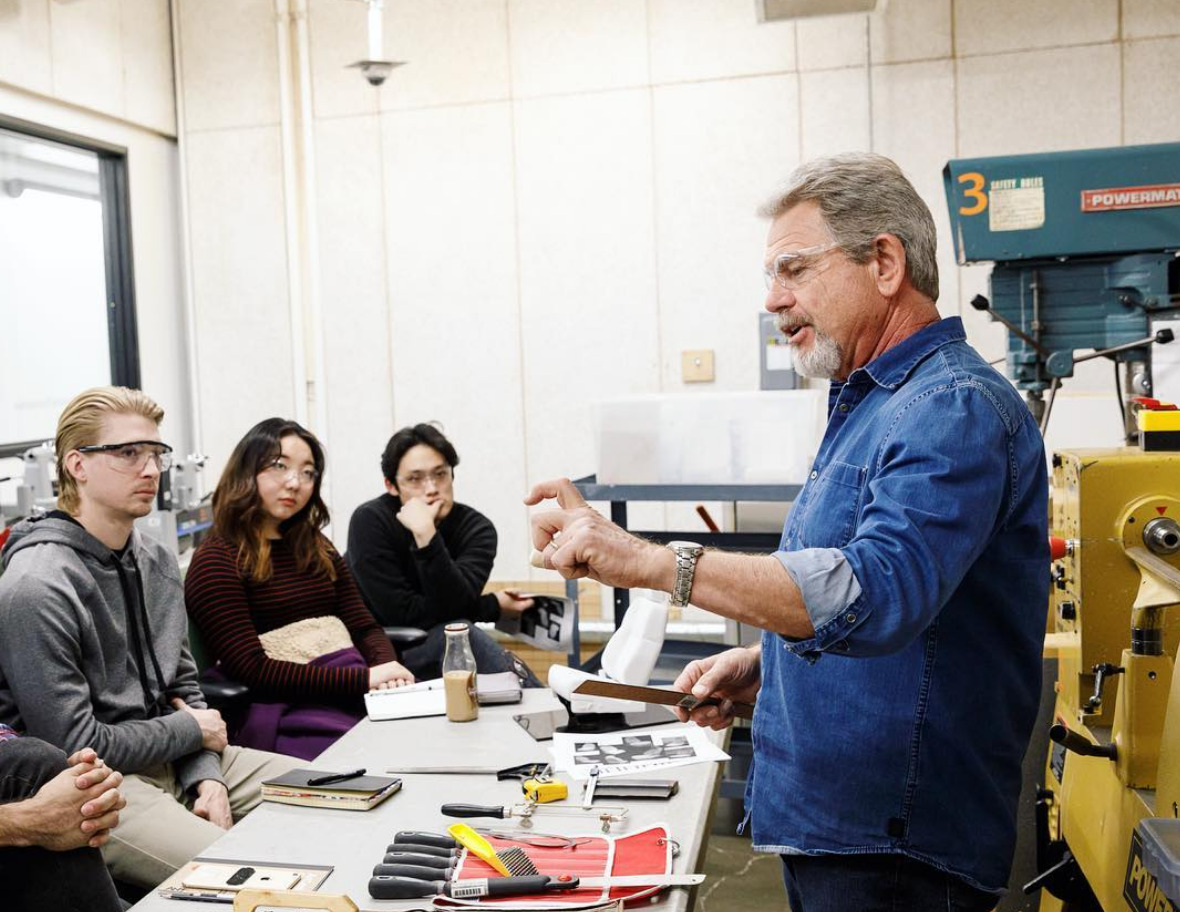 """Screenshot-2018-6-5 ArtCenter College of Design on Instagram """"Dennis Campbell showing students the ropes of tool usage and [...].jpg"""