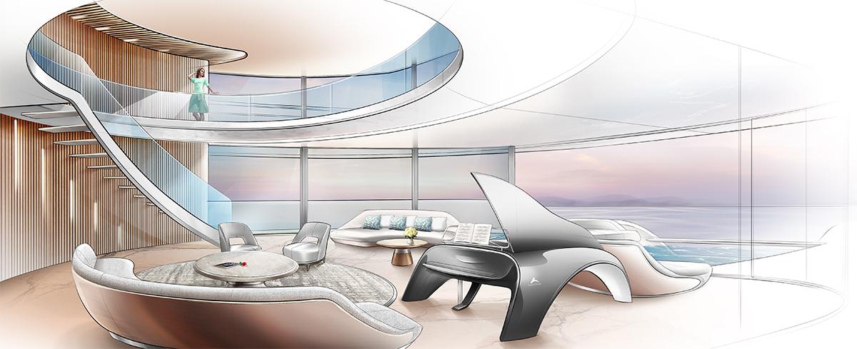 Lurssen Sponsor project  60 - meter Lurssen Sponsor project design for Monaco yacht show 2018