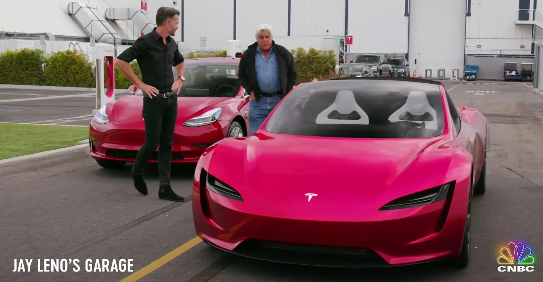 Tesla's next-gen roadster to take spotlight on upcoming episode of Jay Leno's Garage